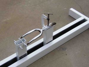 larry says this 12 foot long steel jig weighs 64 lbs