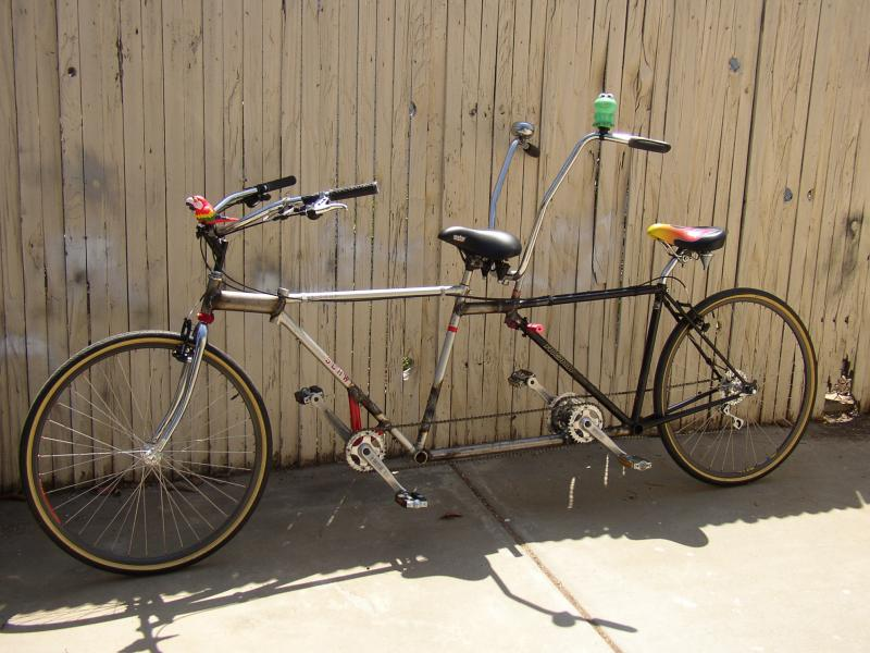How to make a tandem bike with two bikes