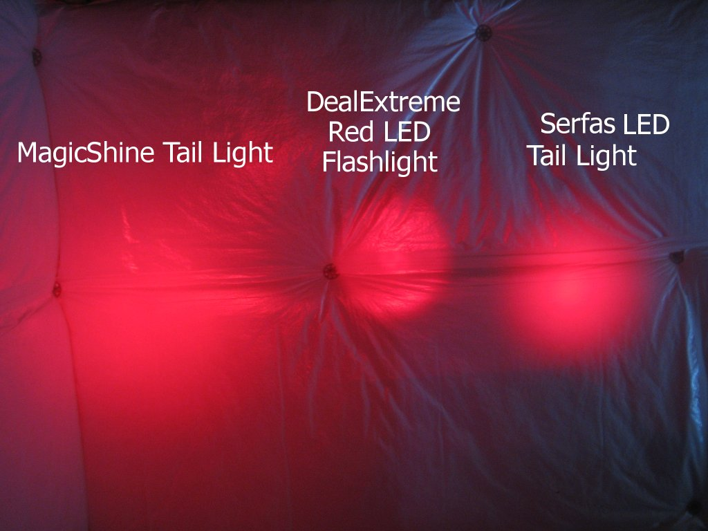 The MagicShine Is The Same Brightness, But Has A MUCH Wider Focus, So It  Should Be Very Easy To See From A Wide Angle. The MagicShine LED Tail Light  ...